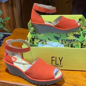 Fly London wedge sandals Poppy color